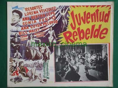Bill Haley And The Comets Juventud Rebelde Crime Delinquent Mexican Lobby Card