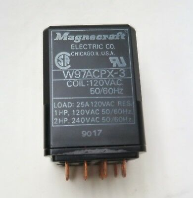 Magnecraft W97ACPX-3 DPDT DB RELAY 25A/240VAC/120VAC Coil for Sorvall RC 5B