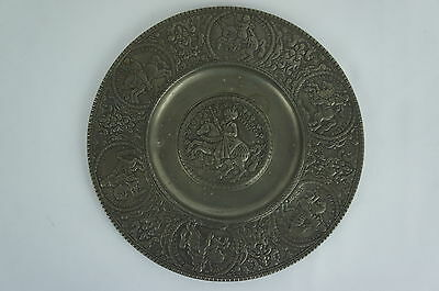 """Superb Antique/ replica pewter plate, Germany, highly detailed 7"""" [Y7-W6-A9]"""