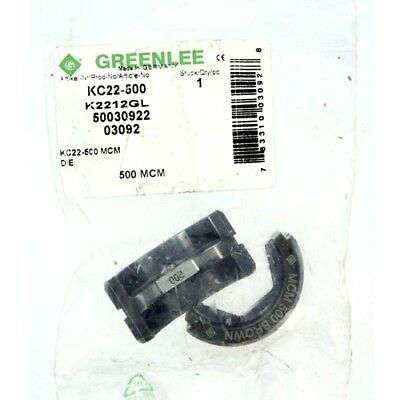 Greenlee KC22-500 6-Ton Crimping Die for 500 kcmil (MCM) Cable