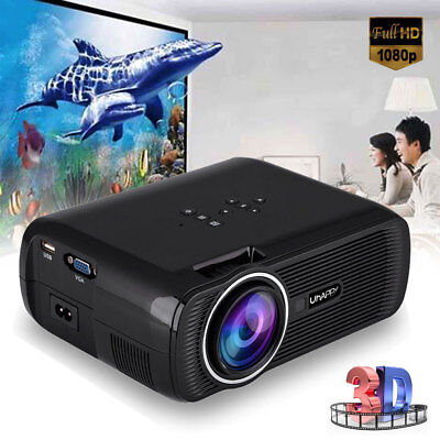 3000 Lumens Full HD 1080P LED WIFI Heimkino Beamer Projektor Video HDMI USB VGA