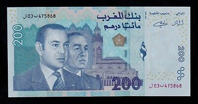 Morocco  200  Dirhams 2002  Pick # 71 Unc.