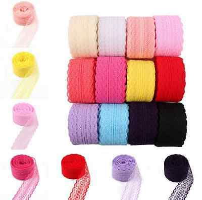 DIY 4.5CM 10 Yards Embroidered Net Bilateral Lace Trim Ribbon Sewing Craft Dress