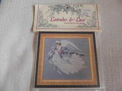 Lavender and Lace Counted Cross Stitch Pattern - Angel of Spring