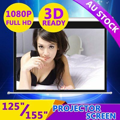 """125""""155"""" Projector Screen Home Theatre HD TV Electric Motorised Projection 3D XT"""