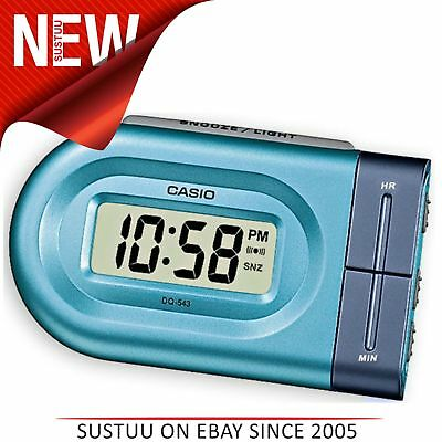 Casio DQ543-2  Bedside Digital Beep Alarm Clock│Snooze│+ Battery Included - Blue