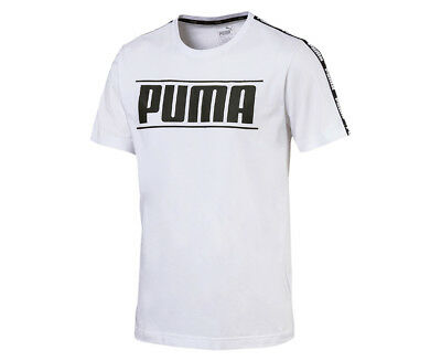 Puma Men's Rebel Tape Tee - White