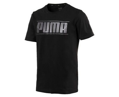Puma Men's Rebel Tape Tee - Black