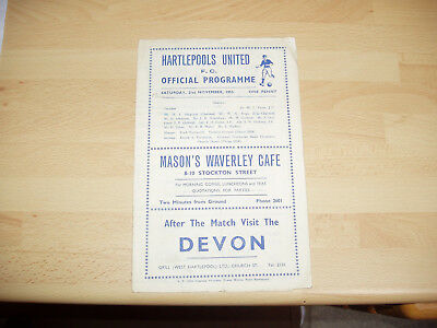 Hartlepools v Mansfield FA Cup 1st Rd 1953/4