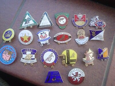 19   Different  Defunct Tracks    Speedway Badges   Mint  Con In Gold & Silver