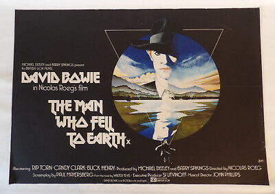 1976 David Bowie Movie Poster Quad The Man Who Fell To Earth Artist Vic Fair