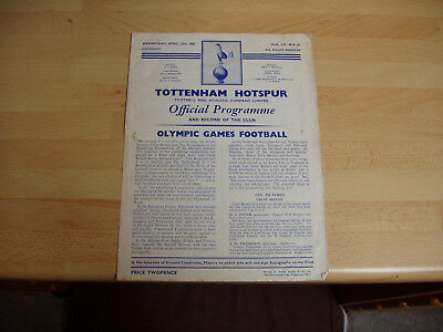 Great Britain v Netherlands Olympic Qualifier 1959/60 at Tottenham