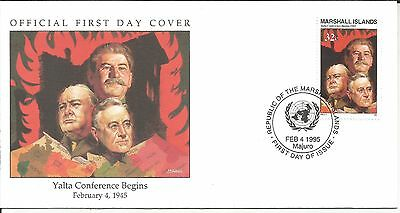 Arcade 50p A Nice Marshall Is 1995 Yalta Conference Begins 1945 FDC