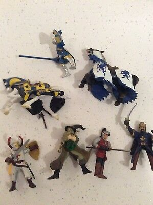 PAPO CASTLE KNIGHTS BATTLE HORSES  Wizard KING X 7 COLLECTIBLES RETIRED RARE