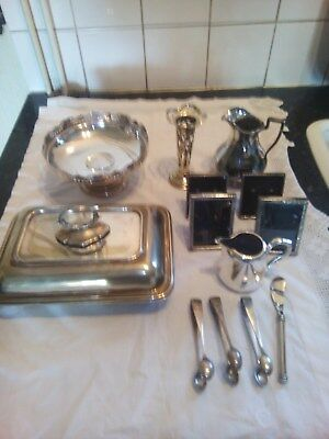 Collection  Of  Antique  Silverplated  Items
