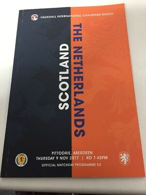 Pre Order Scotland V Holland 9th November 2017 Match Programme Friendly