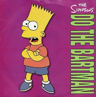 "THE SIMPSONS - DO THE BARTMAN - PS  - 90's - 7"" VINYL"