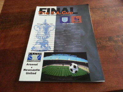 Arsenal V Newcastle United F.a. Cup Final Programme 1998