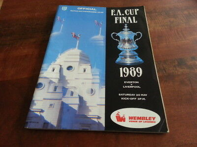 Everton V Liverpool F.a. Cup Final Programme 1989