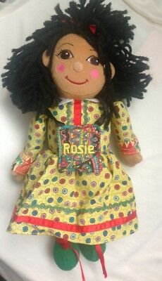 """Ragdoll Productions 1999 ROSIE Soft Toy From Rosie & Jim 11"""" Tall 90s Kids TV"""