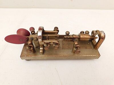 VINTAGE ANTIQUE RED BEAUTIFUL VIBROPLEX BUG OLD 1900s RADIO TELEGRAPH KEY