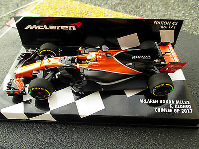 1/43 McLaren Honda MCL32 #14 Fernando Alonso GP China 2017 MINICHAMPS 537174314