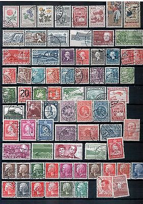 DENMARK - Mixed lot of 75 Stamps, most Good - Fine Used, LH
