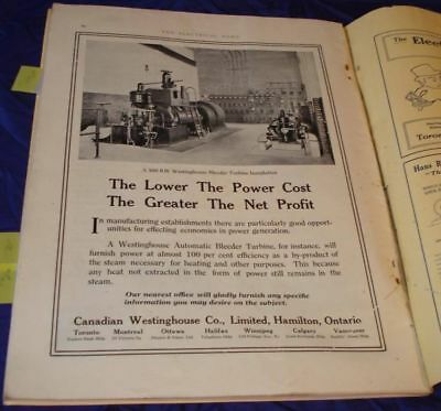 KM221 Vtg Westinghouse Turbine Ad Dated 1916