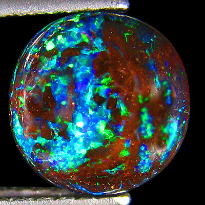 2.33Ct UNIQUE RAREST 3D METALLIC BLUE GREEN FLASHY NATURAL KOROIT BOULDER OPAL