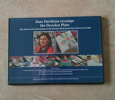 Jane Davidson Revamps The Dresden Plate Dvd ~ New