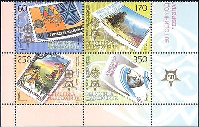 Macedonia 2005 Europa/Stamps/Anniversary/Stamp-on-Stamp/S-on-S 4v blk (n38885)