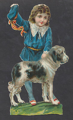 S8426 Victorian Die Cut Scraps: Large Boy & Dog