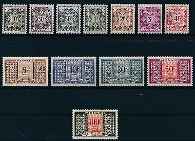 [P0487] MONACO 1946/57 STAMPDUE good set of stamps very fine MNH Value : $85
