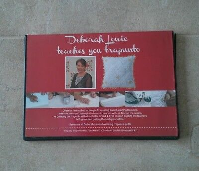 Deborah Louie Teaches You Trapunto Dvd ~ New