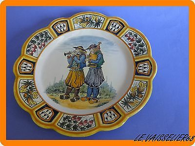 Vintage Plate French Faience Henriot Quimper