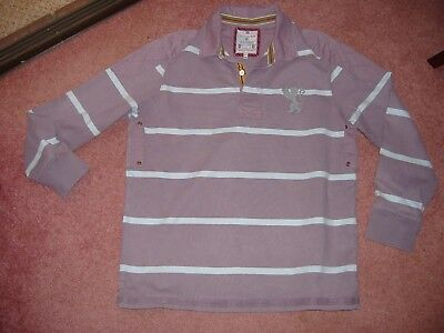 JOULES Intouch hooped cotton rugby shirt sweatshirt top XL