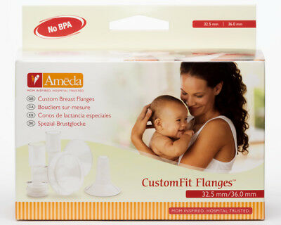 Ameda XXXL Flanges Funnels 36mm / 32.5mm 2pk for all Ameda Breast Pumps 17358I