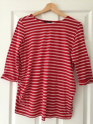 Red/ White Stripe Maternity Top - New Look - Size 12