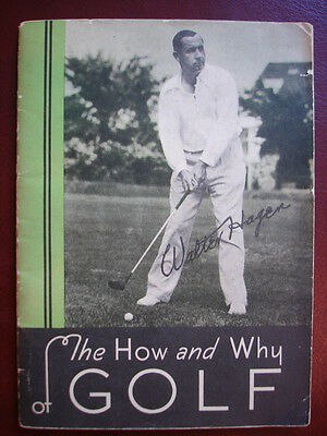 """Rare 1930's WALTER HAGEN at Oakland Hills C.C. BOOKLET """"The How & Why Of Golf"""""""