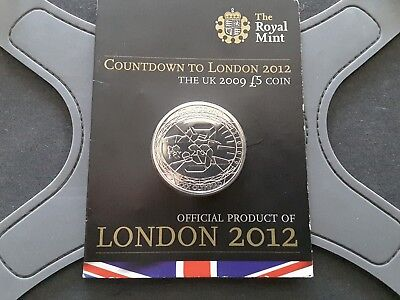 Uk 2009 £5 Coin - Countdown to London 2012 in Royal Mint Packet