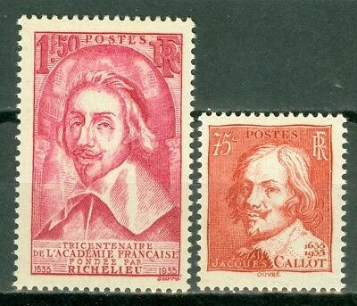 France, timbres N° 305 et 306, neufs ***, TB