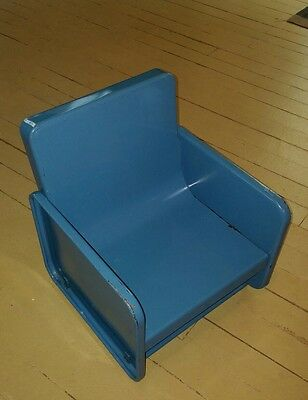 Vintage Toddler Child's Metal Chair Booster Seat Nursery Highchair