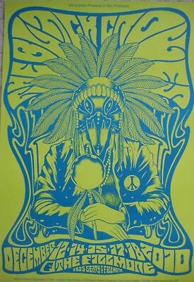BLACK CROWES FILLMORE POSTER F1075 Night 4 Green ORIGINAL ONE OF 5 OF SET Forbes