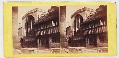Stereoview-WARWICKSHIRE, Coventry and St. Mary's Hall