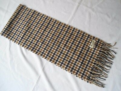 Aquascutum Scarf Club Checked Lambswool & Cashmere Made In England