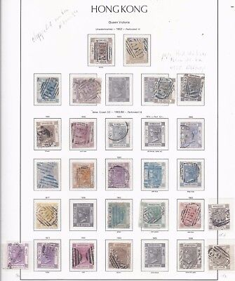 Hong Kong  Queen Victoria to King George V collection on pages mostly used