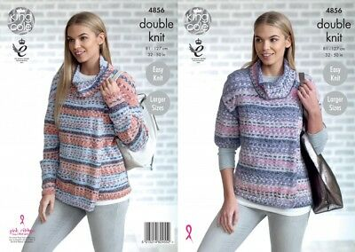King Cole Ladies Cardigans Drifter Knitting Pattern 4856  DK (KCP-4856)