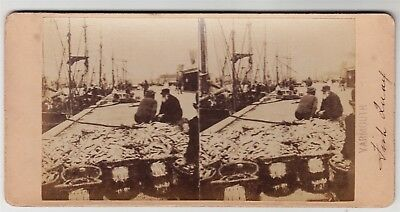 Stereoview-NORFOLK, Yarmouth and the Fish Quay possibly by ALFRED SEAMAN