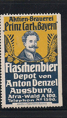 Germany Poster Advertising collection lot Augsburg Beer Brewery Anton Denzel