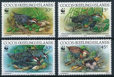 [E14228] Cocos Is. 1992 WWF Birds good set of stamps very fine MNH